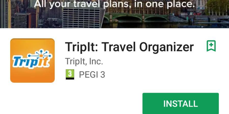 Tripit app.