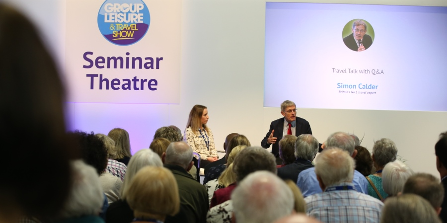 Simon Calder at the 2018 Group Leisure & Travel Show.