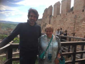 Laraine and Gianleone at Gradara