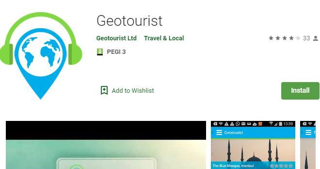 Geotourist app