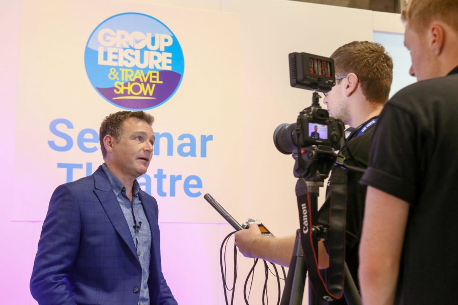 Chris Beardshaw at the Group Leisure & Travel Show in 2017